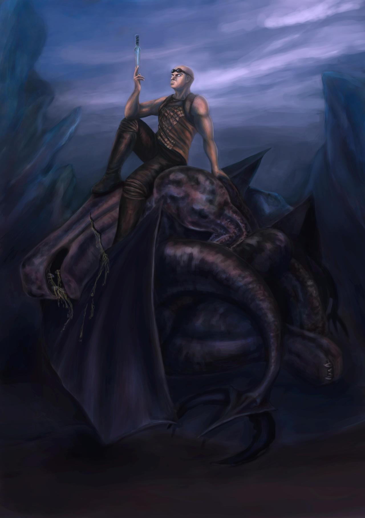 Riddick: the wait v2 by airuzki