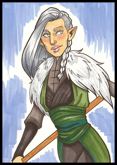 Roisin Lavellen Sketchcard by lubyelfears