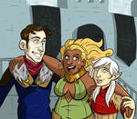 Nitwits at Skyhold by lubyelfears