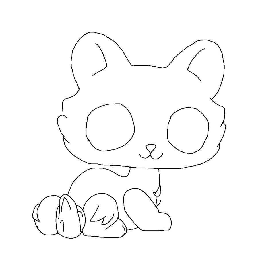 Lps Tabby Cat Base By SilverHeartthewarrio On DeviantArt