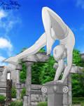 Human Statue Handbalancing