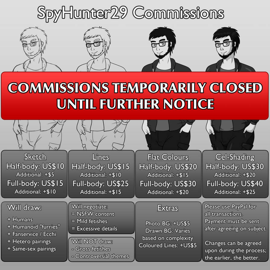 SpyHunter29 Commission Price Chart