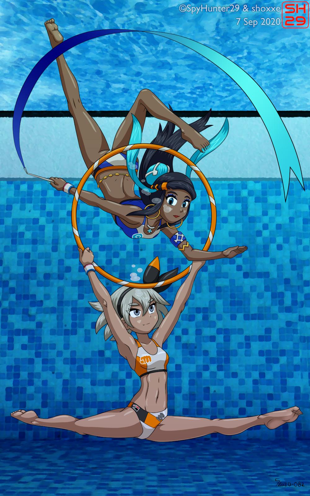 Underwater Gymnasts
