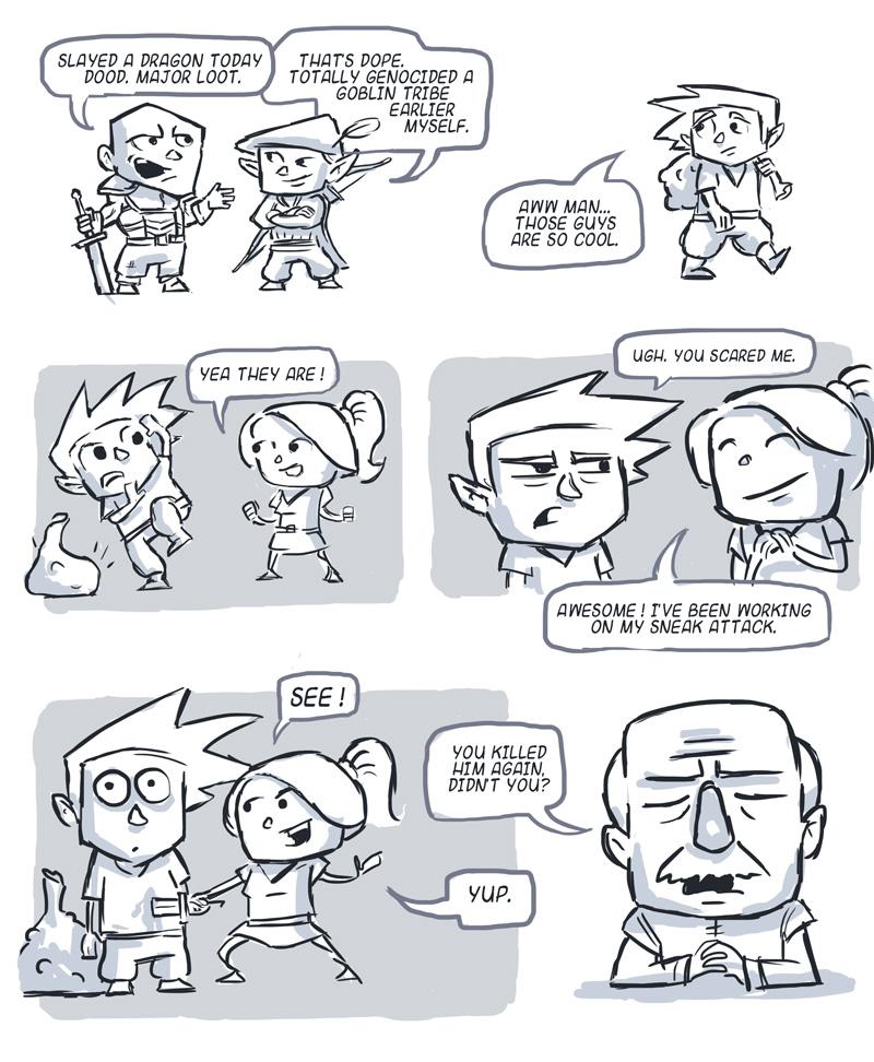Chibi Fantasy Comic (Page 1) by shamsnelson