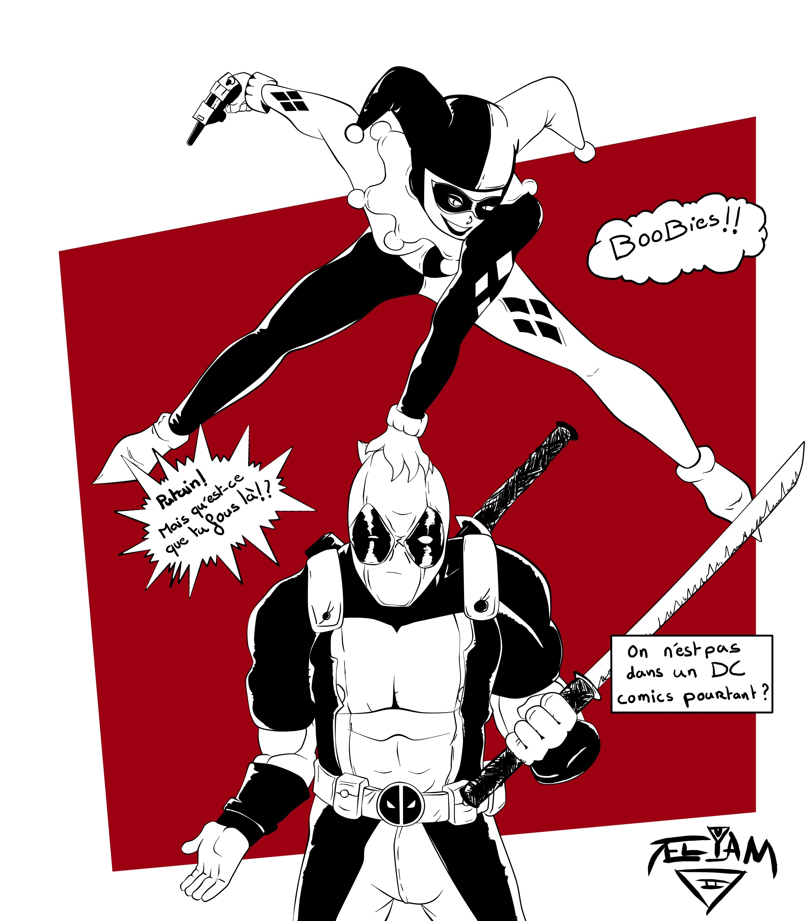 Deadpool x harley quinn by eliamlamb on deviantart - Deadpool harley quinn notebook ...