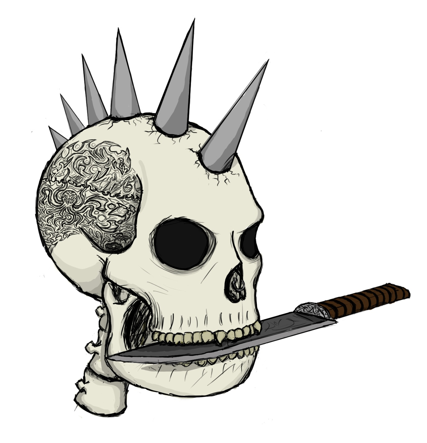 punk pirate skull by limepsycho on deviantart