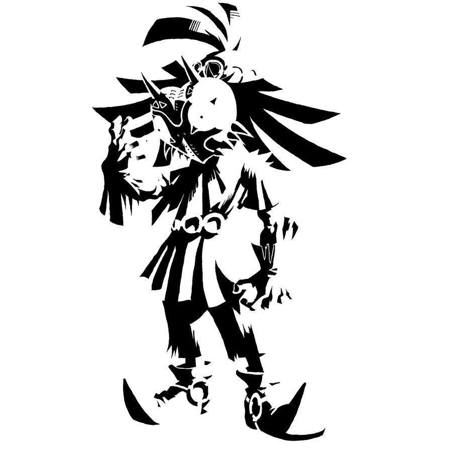 Majoras wrath coloring pages ~ Majora's Mask Black on white by TheBastionDA on DeviantArt