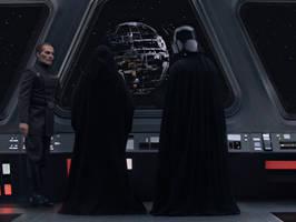 Tarkin, Palpatine, and Vader by sauronmrc