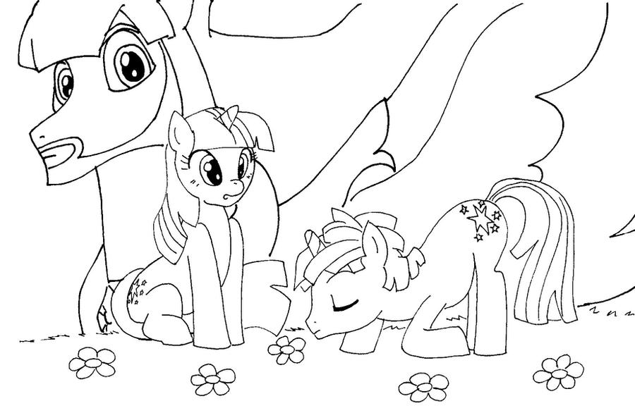 My Little Pony Portada para colorear by reina-del-caos on