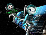 Sue and Toroko in Space|Commission by SCrophopper