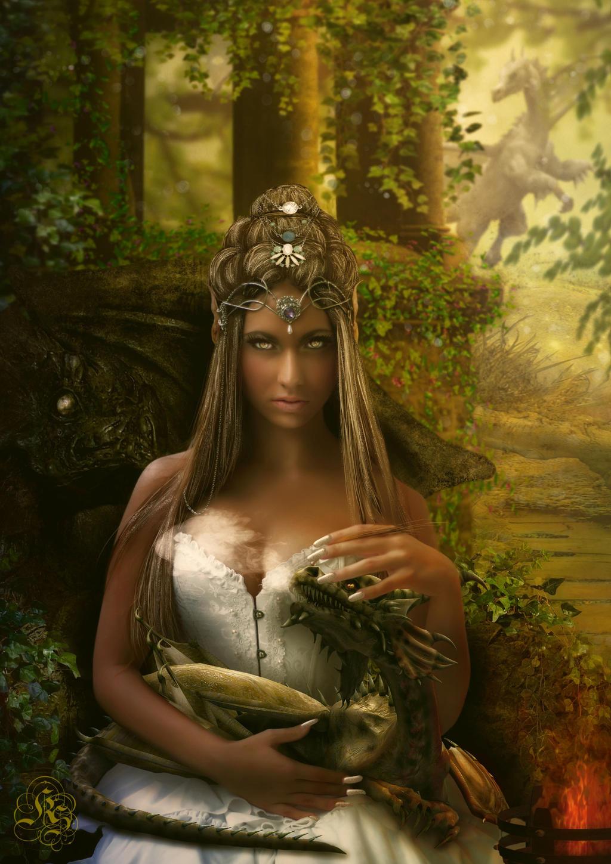 la elfa de los dragones