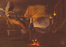 Khaleesi - Queen of Dragons by Quijuka