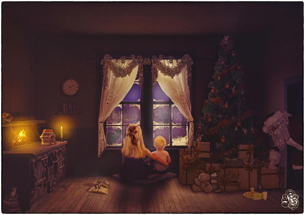 Waiting for Santa by Quijuka