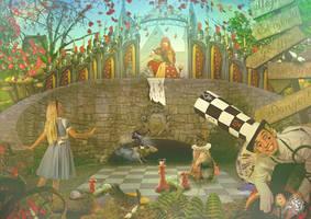Alice in Wonderland by Quijuka