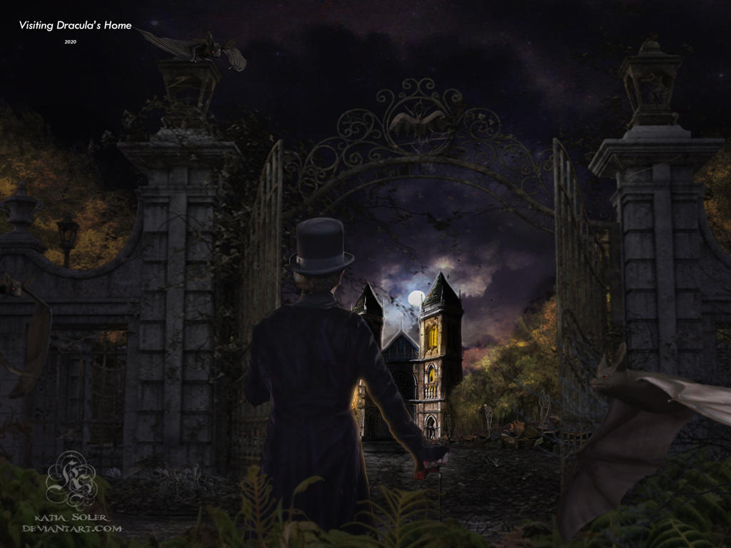 visiting Dracula's home by Quijuka