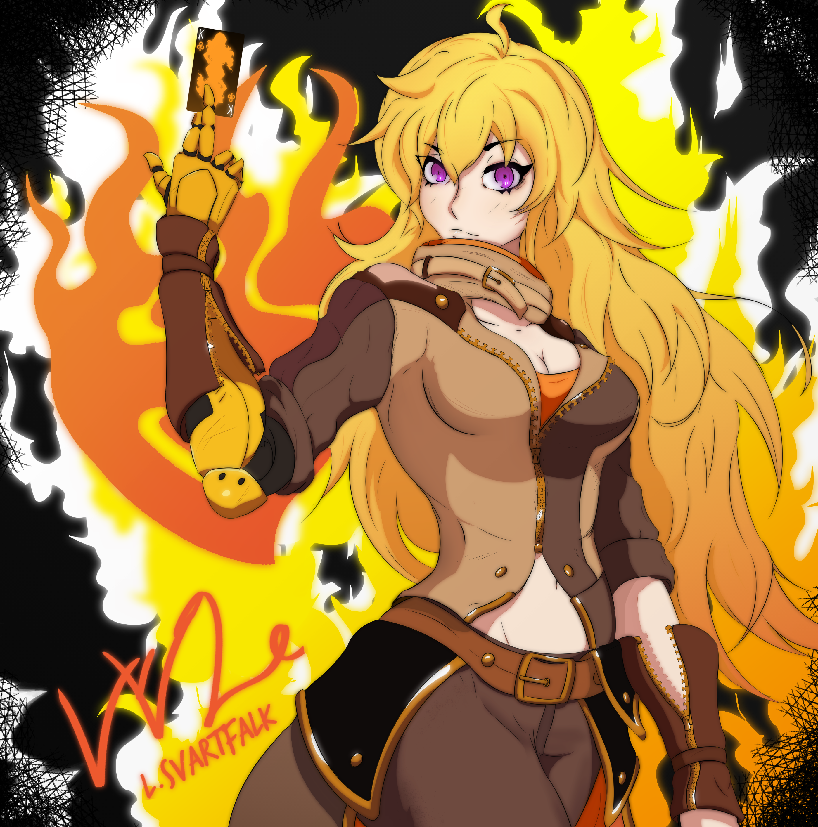 Yang Xiao Long Rwby Fan Art By Lulusensei On Deviantart