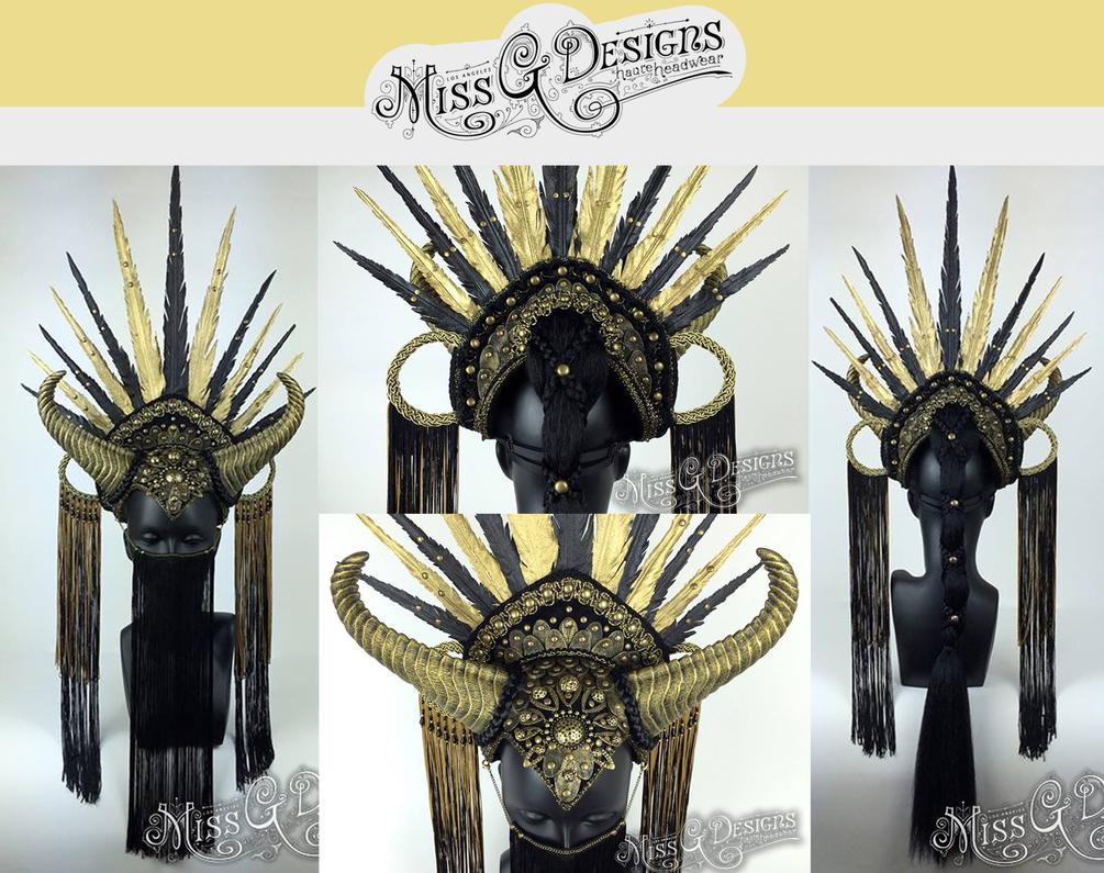 Vegan friendly headdress - SOLD by MissGdesigns