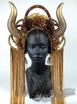Horned Goddess Headdress