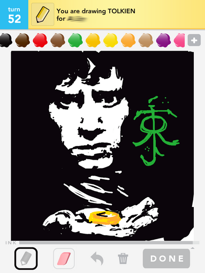Draw Something: Tolkien / Frodo by shyfaerie