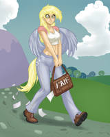 Derpy humanized by AphexAngel