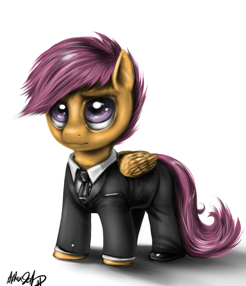 Scoot in a suit by AphexAngel
