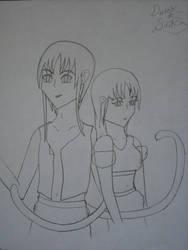 Derek and Sirika Line-art by LadyLiena