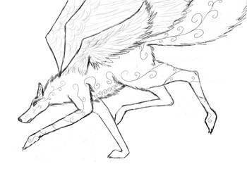 Random Wolf by LadyLiena