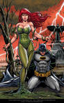 Poison Ivy and Batman By Marcio  Abreu Red version