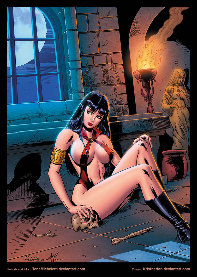 Vampirella in cripta by Rene Micheletti