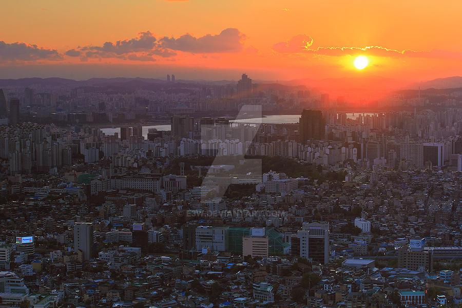 Good Night Seoul by e3w