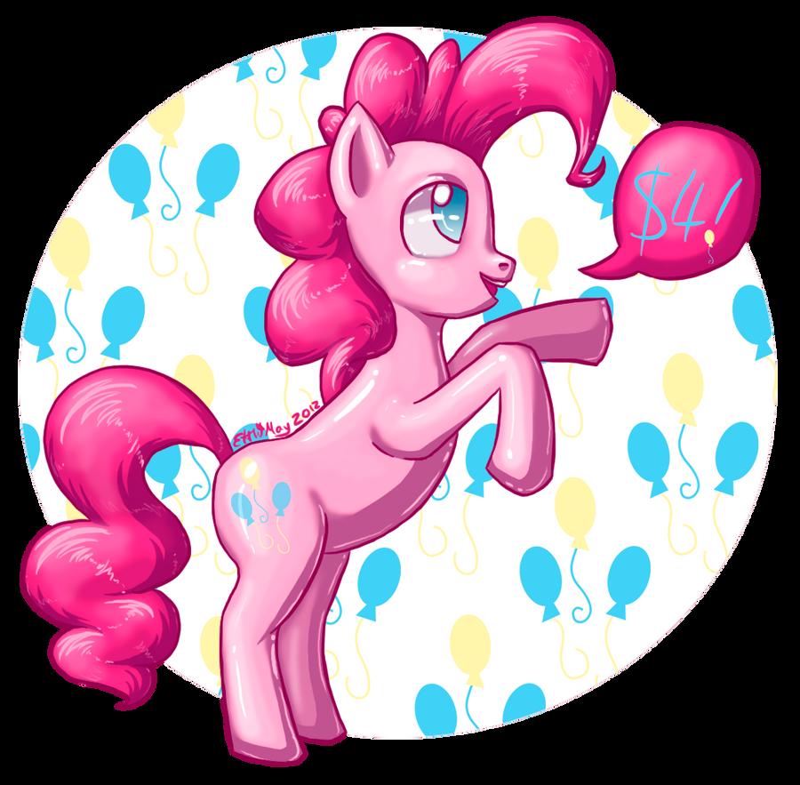 $4 Pinkie Pie by fivedollarponies