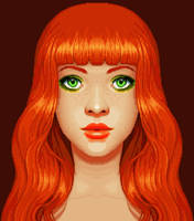 Red Orange Pixel Fanart by oni1ink