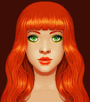 Red Orange Pixel Fanart