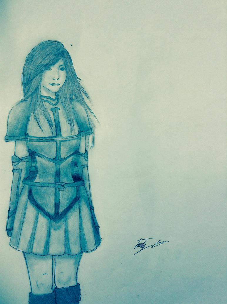 Realistic Attempt: Erza Scarlet by TwilightKira27