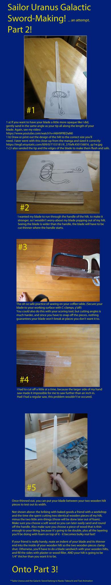 how to make sailor uranus sword