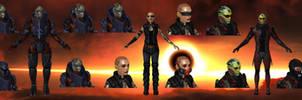 Alternative Appearance Pack 1 ME2 for XNALara by Melllin