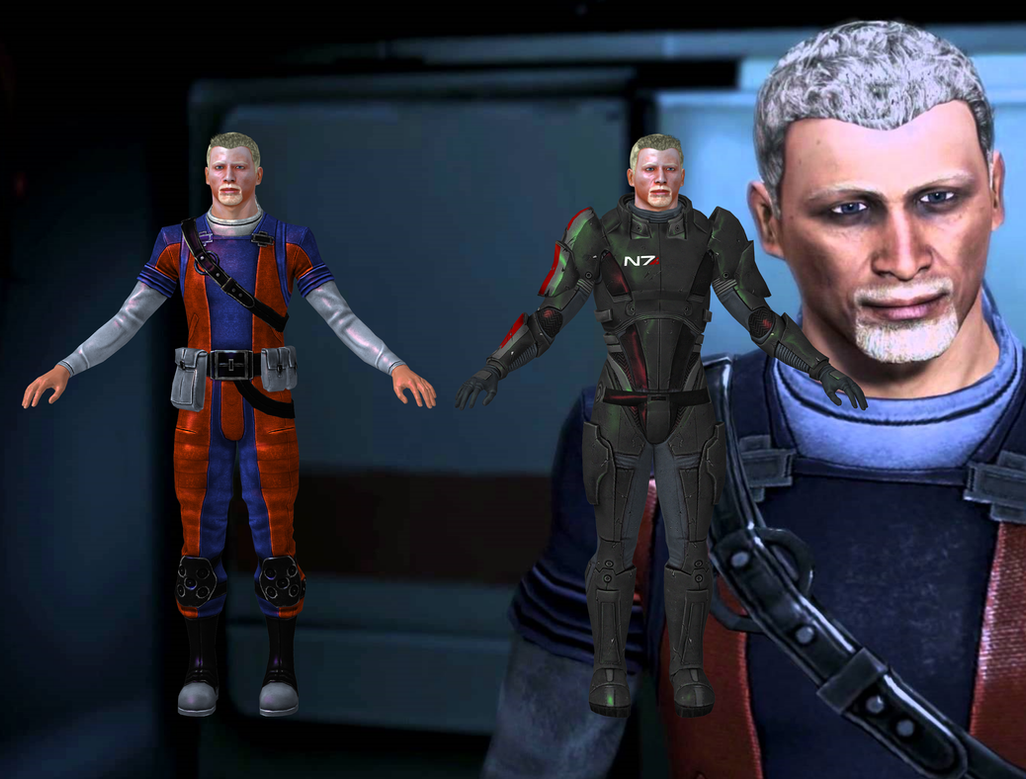Conrad Verner From Mass Effect 2 And 3 For XNALara By