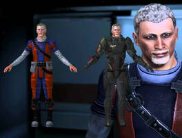 Conrad Verner from Mass Effect 2 and 3 for XNALara by Melllin