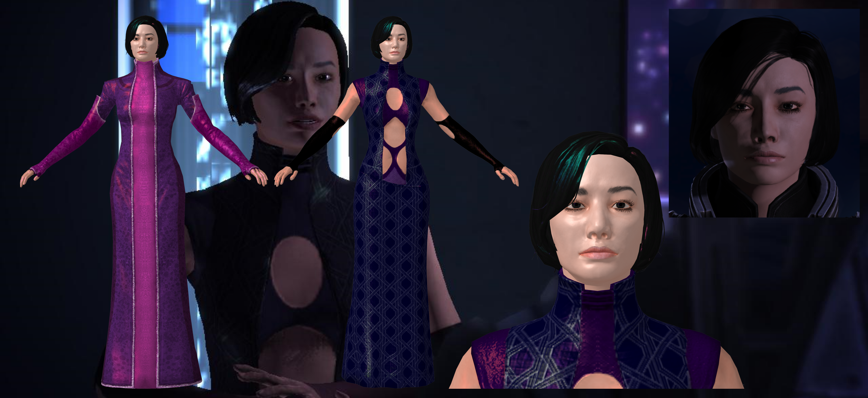 Emily Wong from Mass Effect  for XNALara V.:2.0 by Melllin