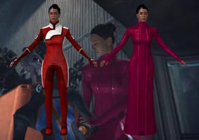 Gianna Parasini from Mass Effect for XNALara by Melllin