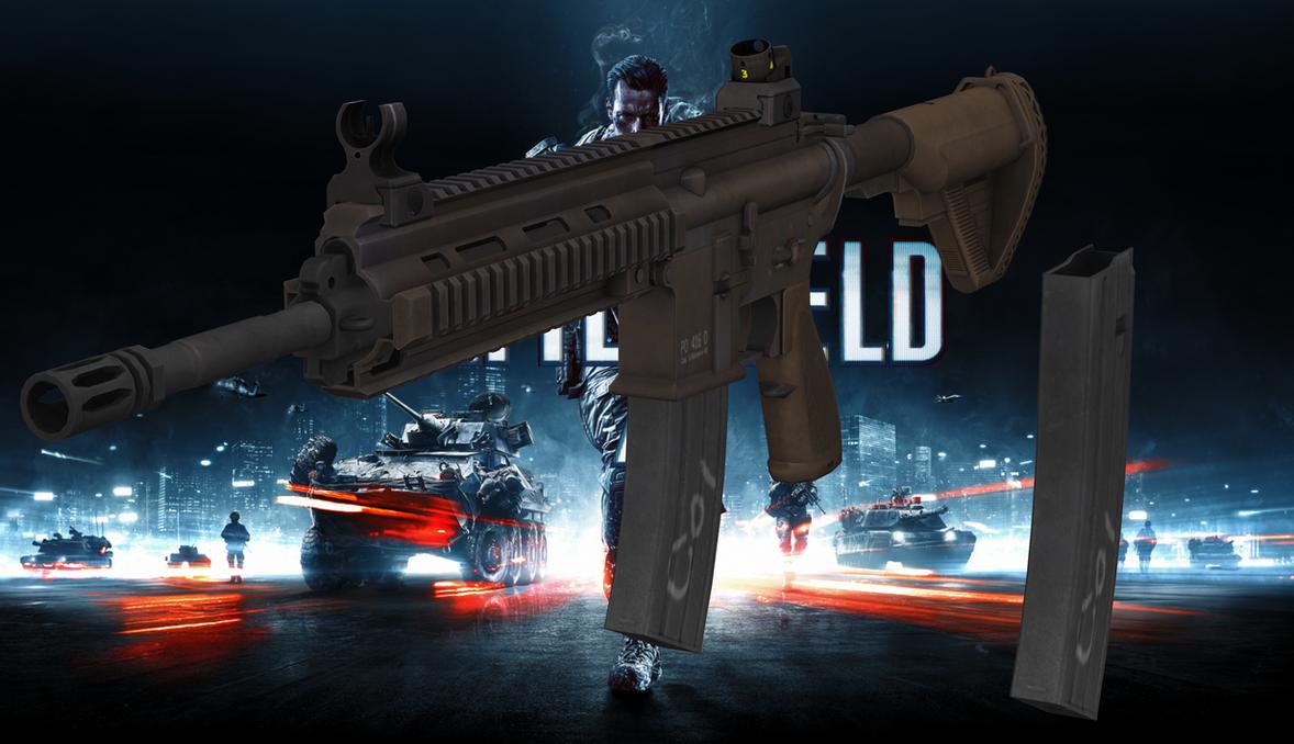M416 from battlefield 4 for xnalara by melllin on deviantart - M416 wallpaper ...