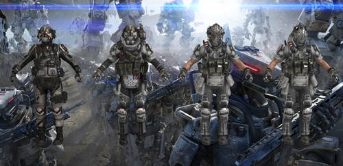 Set of IMC Soldiers from Titanfall for XPS by Melllin
