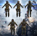 Set of MCOR Soldiers from Titanfall for XPS