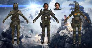 MCOR Female Pilots from Titanfall for XPS