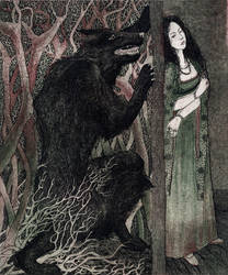 Beauty and The Beast. Illustration 3.