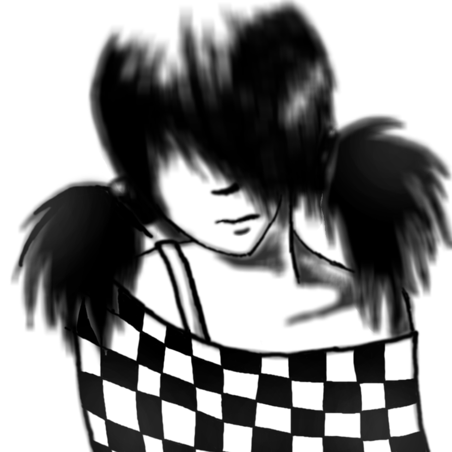 Emo girl by AnnElfwind