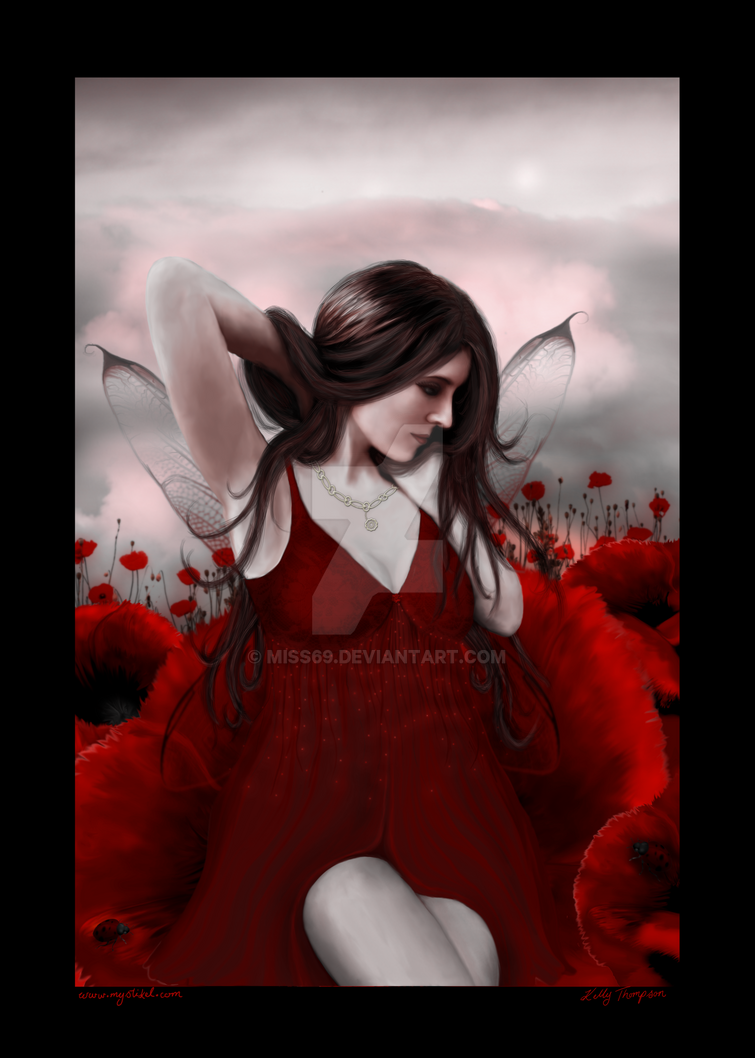 In a Field of Poppies by miss69