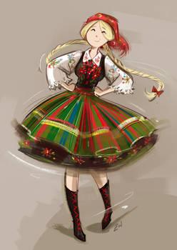 Yuri in folklore costume