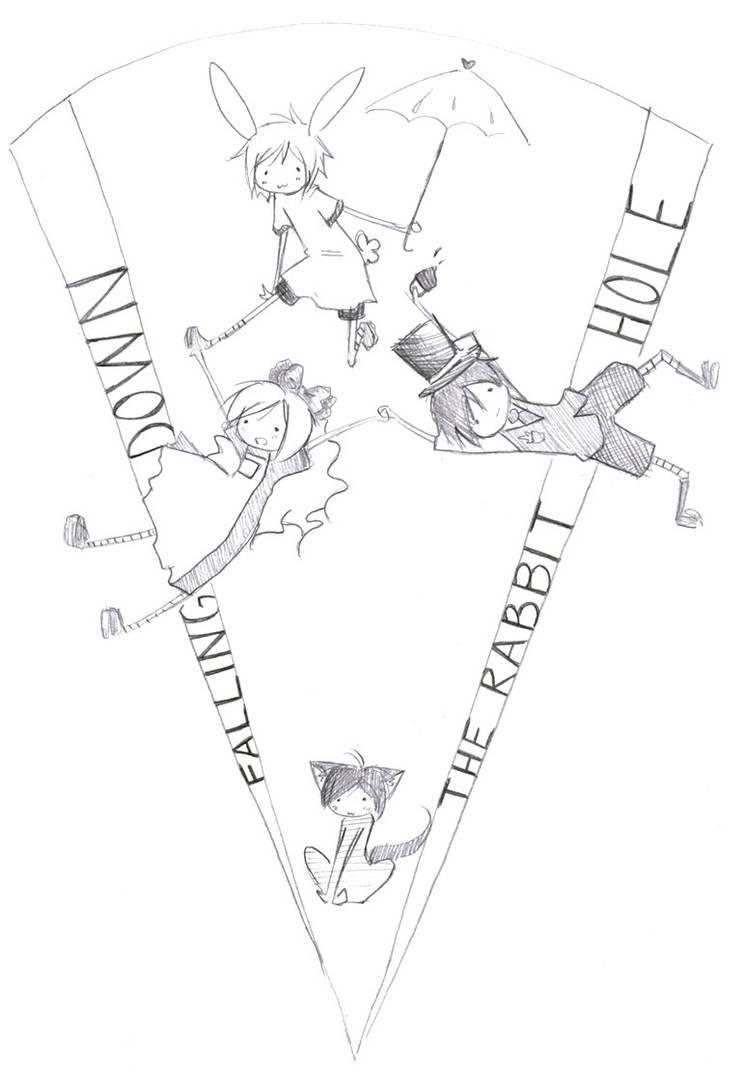 falling down the rabbit hole by shiroikaze