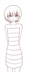 Striped Dress by flawlessparadox